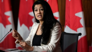 Dr. Supriya Sharma, Chief Medical Advisor for Health Canada, speaks during a technical briefing on the roll-out of COVID-19 vaccines, in Ottawa, on Thursday, Dec. 3, 2020. THE CANADIAN PRESS/Justin Tang