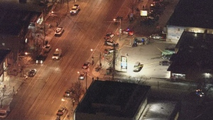 A man has been seriously injured in an interaction with police in Etobicoke. (Chopper 24)