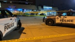 Police vehicles are pictured at the scene of an officer-involved shooting in the area of Lake Shore Boulevard and Twenty Fourth Street Thursday December 3, 2020. (Peter Muscat)