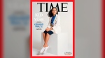 """This undated photo provided by Time Magazine shows the cover of its Dec. 14, 2020 issue, featuring a 15-year-old Colorado high school student and young scientist who has been named the magazine's first-ever """"Kid of the Year."""" Gitanjali Rao has used artificial intelligence and created apps to tackle contaminated drinking water, cyberbullying, opioid addiction and other social problems. Rao is a sophomore at STEM School Highlands Ranch in suburban Denver and was selected from more than 5,000 nominees. (Sharif Hamza for TIME via AP)"""