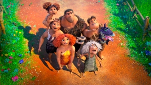 "This image released by DreamWorks shows a scene from the animated film ""The Croods: A New Age."" (DreamWorks Animation via AP)"