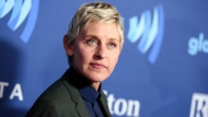 "FILE - Ellen DeGeneres arrives at the 26th Annual GLAAD Media Awards in Beverly Hills, Calif., on March 21, 2015. DeGeneres said she has tested positive for COVID-19 but is ""feeling fine right now."" The producer of her daytime talk show says production has been put on hold until January. (Photo by Richard Shotwell/Invision/AP, File)"