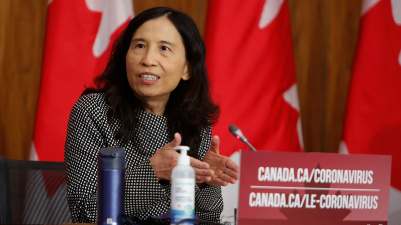 Chief Public Health Officer Dr. Theresa Tam speaks during a press conference in Ottawa on Friday, Dec. 11, 2020. THE CANADIAN PRESS/David Kawai