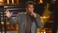 "FILE - Charley Pride performs ""Kiss An Angel Good Morning"" at the 50th annual CMA Awards in Nashville, Tenn. on Nov. 3, 2016. Pride will get a lifetime achievement award at the CMA Awards in November. (Photo by Charles Sykes/Invision/AP, File)"
