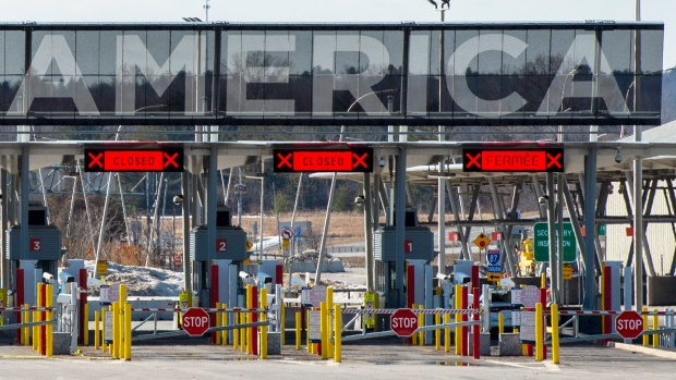 The United States border crossing is seen Wednesday, March 18, 2020 in Lacolle, Que. THE CANADIAN PRESS/Ryan Remiorz