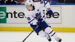 Toronto Maple Leafs' Mitchell Marner (16) looks to pass during the second period of an NHL hockey game against the New York Rangers Wednesday, Feb. 5, 2020, in New York. THE CANADIAN PRESS/AP, Frank Franklin II