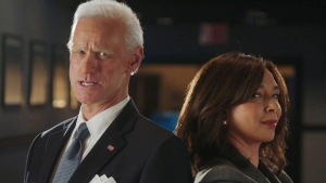 Jim Carrey and Maya Rudolph are seen here as Joe Biden and Kamala Harris. (SNL via CNN)