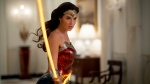 "This image released by Warner Bros. Entertainment shows Gal Gadot in a scene from ""Wonder Woman 1984."" (Clay Enos/Warner Bros. via AP)"