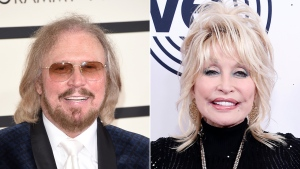Barry Gibb and Dolly Parton have remade one of the Bee Gees' legendary songs. (Getty Images via CNN)
