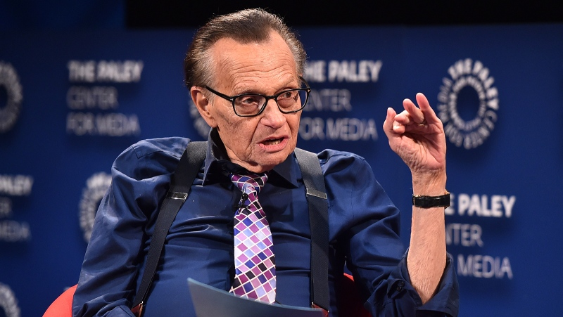 Broadcasting legend and former CNN talk show host Larry King has been hospitalized in Los Angeles with the coronavirus, according to a source close to the family. (Alberto E. Rodriguez/Getty Images via CNN)
