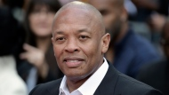 "Dr. Dre attends a hand and footprint ceremony honoring Quincy Jones on Nov. 27, 2018, in Los Angeles. In a social media post late Tuesday, Jan. 5, 2021, Dr. Dre said he will be ""back home soon"" after the music mogul received medical treatment at a Los Angeles hospital for a reported brain aneurysm. (Photo by Richard Shotwell/Invision/AP, File)"