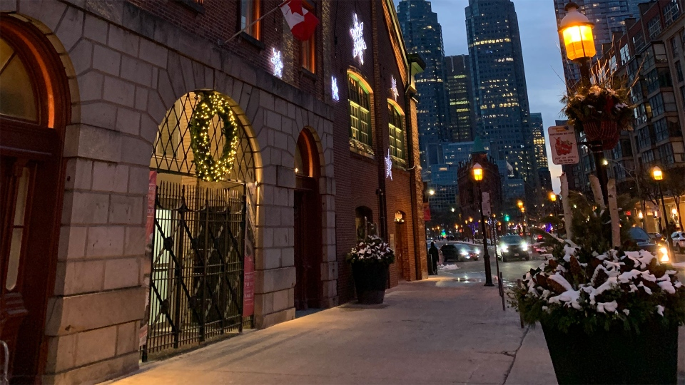 The entrance to St. Lawrence Market in downtown Toronto is pictured December 27, 2020. (Joshua Freeman/CP24)