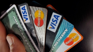 In this file photo, consumer credit cards are pictured. (AP Photo/Elise Amendola, File)