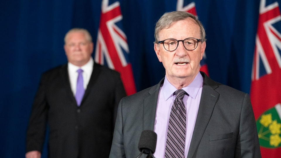 Ontario Chief Medical Officer Dr. David Williams speaks during the daily briefing at Queen's Park in Toronto, Friday, June 12, 2020. THE CANADIAN PRESS/Frank Gunn