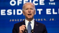 U.S. President-elect Joe Biden speaks during an event at The Queen theater in Wilmington, Del., Thursday, Jan. 7, 2021, to announce key nominees for the Justice Department. (AP Photo/Susan Walsh)