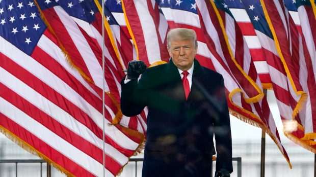 U.S. President Donald Trump arrives to speak at a rally Wednesday, Jan. 6, 2021, in Washington. (AP Photo/Jacquelyn Martin)