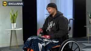 "Jacob Blake is interviewed on ABC's ""Good Morning America."" (Good Morning America/ABC News)"