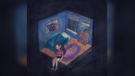 An example of a child's artwork during the COVID-19 pandemic is shown in a handout. Many of the children's drawings show people alone, haunted by shadowy spectres, or worse, their own thoughts.The researcher behind the childart.ca project says the virtual gallery of illustrations by Canadian kids and teenagers showcases a wide variety of visions of the pandemic. THE CANADIAN PRESS/HO-childart.ca Mandatory Credit