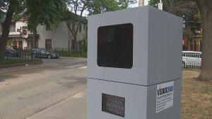 An automated speed enforcement device is seen in this undated photo.