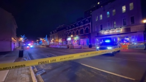 Police are on the scene of a shooting in Brampton that left two men injured. (CTV News/Ricardo Alfonso)