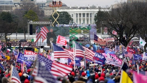 FILE - Trump supporters participate in a rally Wednesday, Jan. 6, 2021 in Washington.  (AP Photo/Julio Cortez)
