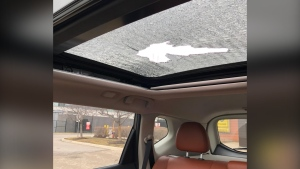 Sunroof damaged