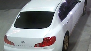 A suspect vehicle in the fatal shooting of Shane Stanford is shown in this surveillance camera image. (Toronto Police Service)