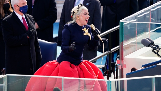 Lady Gaga, Jennifer Lopez's Statement Outfits At The Inauguration Ceremony