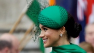 FILE - In this Monday, March 9, 2020 file photo, Britain's Meghan, the Duchess of Sussex leaves after attending the annual Commonwealth Day service at Westminster Abbey in London. A lawyer for the publisher of the Daily Mail newspaper said Wednesday Jan. 20, 2021, that the Duchess of Sussex had no reasonable expectation of privacy for a letter she sent her estranged father. (AP Photo/Kirsty Wigglesworth, File)