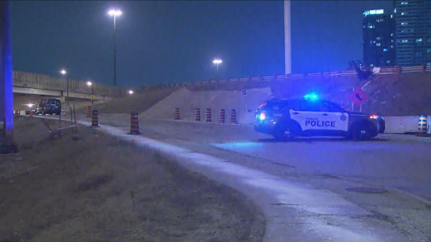 Police are investigating two separate shootings involving tow trucks on Highway 401 overnight.