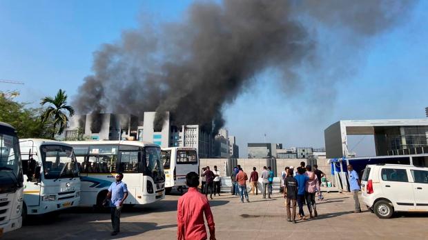 India, fire, AstraZeneca