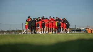 Canada men's national soccer players take part in the team's camp in Bradenton, Florida on Thursday January 21, 2021. (THE CANADIAN PRESS/HO-Canada Soccer)