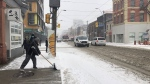 Environment Canada says as much as 15 centimetres of snow could be on the ground in Toronto by Tuesday evening. (Kerrisa Wilson/CP24)