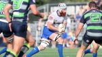 Toronto Arrows forward Mike Sheppard carries the ball against the Seattle Seawolves on June 9, 2019 at Starfire Stadium in Seattle. Like the three Canadian MLS teams, the Toronto Arrows of Major League Rugby are weighing options where to play this season with Plan B involving relocating to a U.S. city. THE CANADIAN PRESS/HO-Mark David Janzen Mandatory Credit