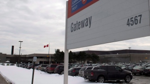 The Canada Post Gateway sorting facility is shown in Mississauga, Ontario on Wednesday December 18, 2013. THE CANADIAN PRESS/Frank Gunn