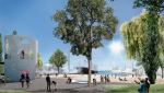 The concept for Leslie Slip Lookout Park is seen in this rendering. (CreateTO.ca)