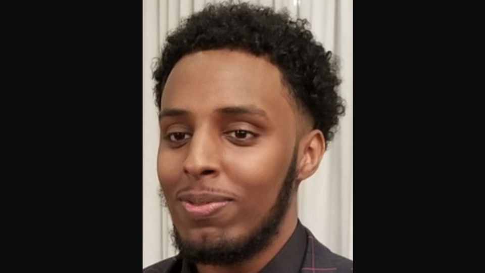 Hashim Omar Hashi, 20, is shown in a handout image from Toronto police.
