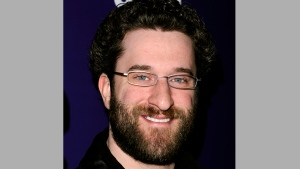 "In this Jan. 24, 2011 file photo, Dustin Diamond attends the SYFY premiere of ""Mega Python vs. Gatoroid"" at The Ziegfeld Theater in New York. (AP Photo/Peter Kramer, File)"