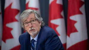 Privacy Commissioner Daniel Therrien speaks during a news conference in Ottawa, Tuesday, December 10, 2019. THE CANADIAN PRESS/Adrian Wyld