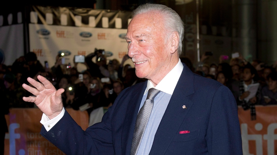 """Actor Christopher Plummer poses for photographs on the red carpet for the new movie """"The Forger"""" during the 2014 Toronto International Film Festival in Toronto on Friday, September 12, 2014. Plummer has died at 91, confirmed his wife Elaine Plummer. THE CANADIAN PRESS/Nathan Denette"""
