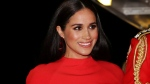 FILE - In this Saturday March 7, 2020 file photo, Meghan, Duchess of Sussex with Prince Harry arrives at the Royal Albert Hall in London, to attend the Mountbatten Festival of Music. A British judge ruled Thursday Feb. 11, 2021, that a newspaper invaded Duchess of Sussex's privacy by publishing personal letter to her estranged father. (Simon Dawson/Pool via AP, File)