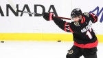 Ottawa Senators left wing Alex Galchenyuk (17) warms up prior to taking on the Winnipeg Jets in NHL action in Ottawa on Tuesday, Jan. 19, 2021. THE CANADIAN PRESS/Sean Kilpatrick