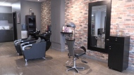 Samson's Salon and Spa in Barrie, Ont. on Fri. Feb. 12, 2021 (Siobhan Morris/CTV News)