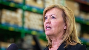Ontario Health Minister Christine Elliott answers questions during a briefing at McKesson Canada in Toronto on Tuesday December 1, 2020. THE CANADIAN PRESS/Frank Gunn