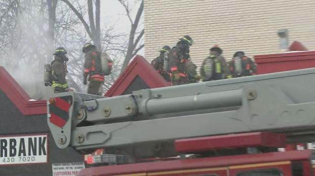 Fire crews, North York