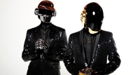 FILE - In this April 17, 2013 file photo, Thomas Bangalter, left, and Guy-Manuel de Homem-Christo, from the music group, Daft Punk, pose for a portrait in Los Angeles. The Grammy-winning French act have announced their break up. (Photo by Matt Sayles/Invision/AP, File)