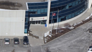 The exterior of Mobile Climate Control in Vaughan is shown on Feb. 26, 2021. (Chopper 24)