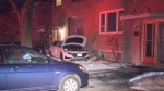 No significant injuries reported after a car crashed into a house early Saturday morning.