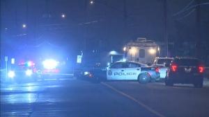 Police are investigating a homicide on Arvin Avenue and Hilton Drive in Hamilton.