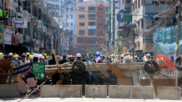 Myanmar barricade